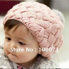 Pink entrelac toddlers hat