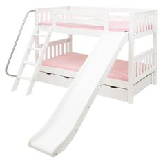 Laugh Twin over Twin Slat Slide Bunk Bed - MXTX152