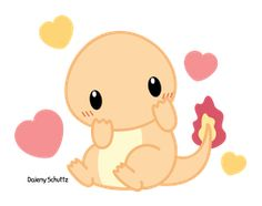 Chibi Charmander by Daieny on DeviantArt Pikachu, Charmander, Charizard, Pokemon Party, Pokemon Fan, Pokemon Memes, Kawaii Chibi, Cute Chibi, Pokemon Mignon