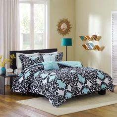 Intelligent Design Joanne Aqua Comforter Set