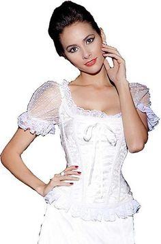 c0e63d14b87 Womens Vintage Waist Slimming Corset Bustier Top Sexy Bride Lace Up Pa –  FuzWeb