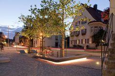 Preis Öffentlicher Bau: Neugestaltung des Stadteingangs am Kemptener Tor, ver.de Landschaftsarchitektur, Straub Tacke Architekten, Stadt Kaufbeuren, © johann hinrichs fotografie
