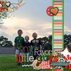 Digital Scrapbook Page by LaShawn Boy-Sterous by Bella Gypsy