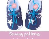 Pdf sewing patterns for children/baby shoes patterns boys casual shoes / newborn shoes with lace / boys tennis shoes / Size 0m-12m