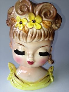 Vintage Lady Head Vases 118