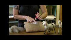How to Needle Felt - Sarafina Fiber Art Goat Series 6: Pelt