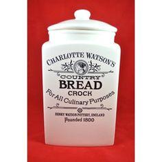 Bread crock, for my homemade bread. I want, I want, I want!