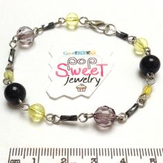 Basic Bracelet Black/Yellow from PopSweetJewelry