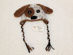 puppy dog earflap hat $15