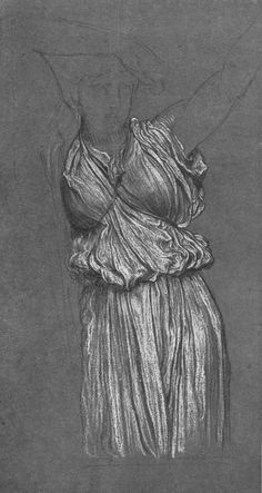 Study of Drapery for 'The Last Watch of Hero' by Lord Frederick Leighton