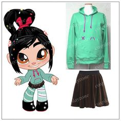 Wreck it Ralph Vanellope Cosplay Costume by cosplayzone on Etsy, $37.88