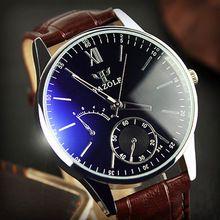 Watches Men's Luxury Leather Analog Watch Strap Quartz-Watch ...