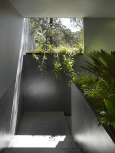 The award-winning design and architecture firm Ezequiel Farca + Christina Grappin has succeeded in restoring and renovating the house in 1970 without character Interior Design Usa, Best Interior, Interior And Exterior, Interior Ideas, Exterior Design, Amazing Architecture, Architecture Details, Concrete Interiors, Outdoor Living Rooms