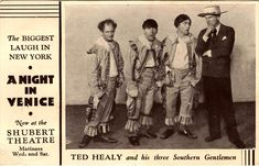 Early 3 Stooges with Ted Healy The Stooges, The Three Stooges, Joe Besser, Shubert Theater, Top Comedies, Comedy Acts, Southern Gentleman, Hooray For Hollywood, Feature Film