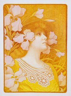 1901 —- Sarah Bernhardt Poster by Paul Berthon
