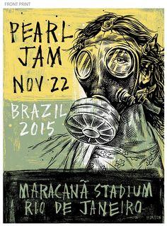Rio De Janeiro 22/11 Poster - Shop - Pearl Jam