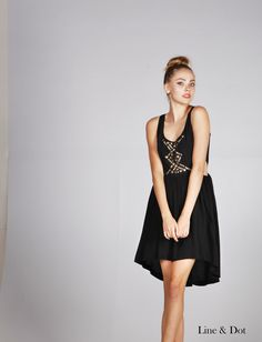 The Line and Dot summer 2013 embellishment cut out dress