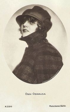 Ossi Oswalda. German postcard by Photochemie, Berlin, no. K. 3310. Photo: Karl Schenker, Berlin.