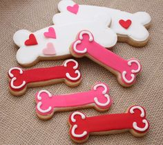Dog Bones  Sugar Cookies Choose your Colors by CookieFashionista, $28.00