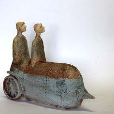 Half Man Half M/Ceramic Sculpture/ Unique Ceramic Figurine/Ceramic Sculpture/ art ceramic by arekszwed on Etsy
