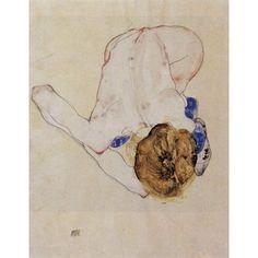 (11x17) Egon Schiele (Forwards female nude) Art Poster Print