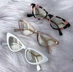 Fashion Eye Glasses, Cat Eye Glasses, Four Eyes, Eyeglasses For Women, Glasses Frames, Aesthetic Clothes, Eyewear, Silver Jewelry, Shades