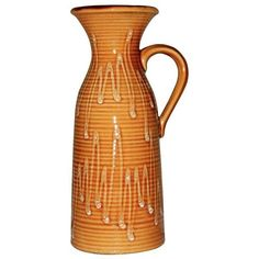 Vintage Austrian Pitcher Vase ($35) ❤ liked on Polyvore featuring home, home decor, vases and colored vases