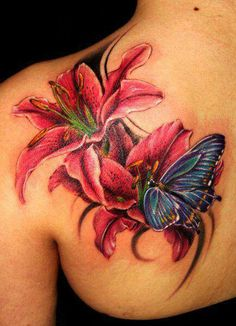 lilies and butterflies....like it was made for me