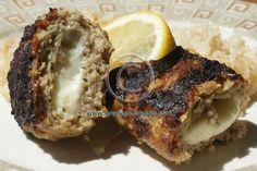 grilled biftekia stuffed :)