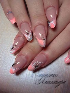 New french pedicure designs flower nailart Ideas Fancy Nails, Trendy Nails, Pink Nails, Gel Nails, Acrylic Nails, Nail Art Designs, French Pedicure Designs, Cruise Nails, Pedicure Nail Art