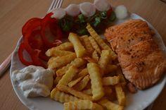Štavnatý steak z lososa Steak, Pork, Chicken, Kale Stir Fry, Steaks, Pork Chops, Cubs