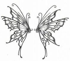 Tat-butterfly wings-back