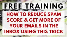 "How to AVOID Spam Filters When Sending Emails Using This FREE ""How to RE... Marketing Videos, Internet Marketing, Make Money Online, How To Make Money, Free Training, Spam, Video Tutorials, Filters, Online Marketing"