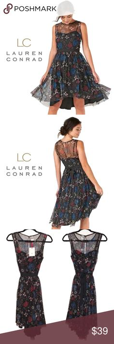 Lauren Conrad Tulle Fit & Flare Dress NWT Step into a fairy tale when you put on this lovely Snow White Collection Tulle Fit & Flare Dress by the fairest designer of them all, the iconic Lauren Conrad. Brand new with tags. LC Lauren Conrad Dresses High Low