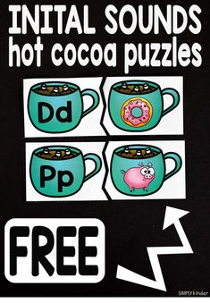 Initial Sounds Hot Cocoa Puzzles Initial Sounds Hot Cocoa Puzzles is the perfect free printable for your preschool and kindergarten students this holiday season. Alphabet Activities, Literacy Activities, Winter Activities, Preschool Winter, Literacy Strategies, Preschool Alphabet, Preschool Literacy, Language Activities, Early Literacy