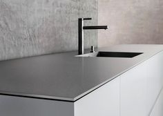 Durable and smoothe, the BLANCO Durinox stainless steel countertop as spotted at Salone del Mobile and Eurocucina is tough enough for outdoors.