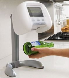 Ikan is a barcode scanner. Mount it in your kitchen. When you are out of a product, scan it's barcode and Ikan will have it delivered for you.