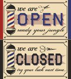 Retro Door Signs For Barber Shop - Download From Over 47 Million High Quality Stock Photos, Images, Vectors. Sign up for FREE today. Image: 37121380