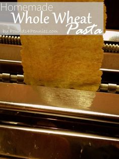 The Best Homemade Whole Wheat Pasta Recipe. Learn how to make homemade pasta in … The Best Homemade Whole Wheat Pasta Recipe. Learn how to make homemade pasta in your own kitchen. Nothing tastes better than homemade whole wheat pasta. Homemade Pasta Dough, Homemade Yogurt, Homemade Cheese, Homemade Jerky, Homemade Chipotle, Semolina Pasta Recipe, Clean Eating Pasta, Wheat Pasta Recipes, Pasta Machine