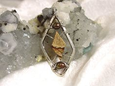Pearl and Picture Jasper Pendant Solid Sterling by jewelrybypatterson
