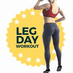6 best Leg workout for women legday workout - Fitness Best Leg Workout, Leg Day Workouts, Hiit Workout At Home, Abs Workout Routines, Butt Workout, Workout Videos, At Home Workouts, Cardio Fitness, Fitness Exercises