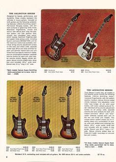 Supro Arlington and Supro Lexington guitars - 1966 Supro electric guitar, bass and amplifier catalogue page 2