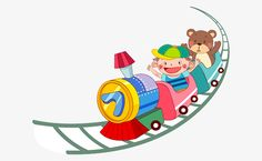 Hand-painted children's cartoon toy train on children, Cartoon Toys, Hand-painted Train, Children's Train PNG and Vector