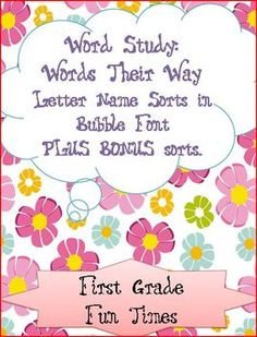 words their way pdf letter name