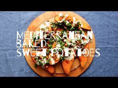Mediterranean Baked Sweet Potatoes | Minimalist Baker Recipes