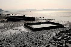 은포리 바닷가 옛날 섬마을이 생각난다.
