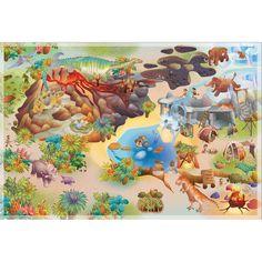 Tapis de Jeu  Dinosaures 100 x 150 cm