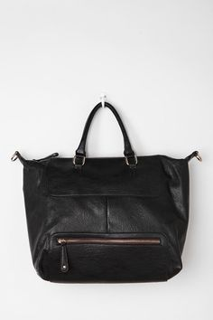 Street Level Exposed Zip Tote Bag   #UrbanOutfitters