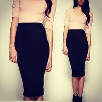 Black tube pencil skirt available in white also
