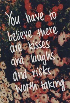 kisses + laughs + risks